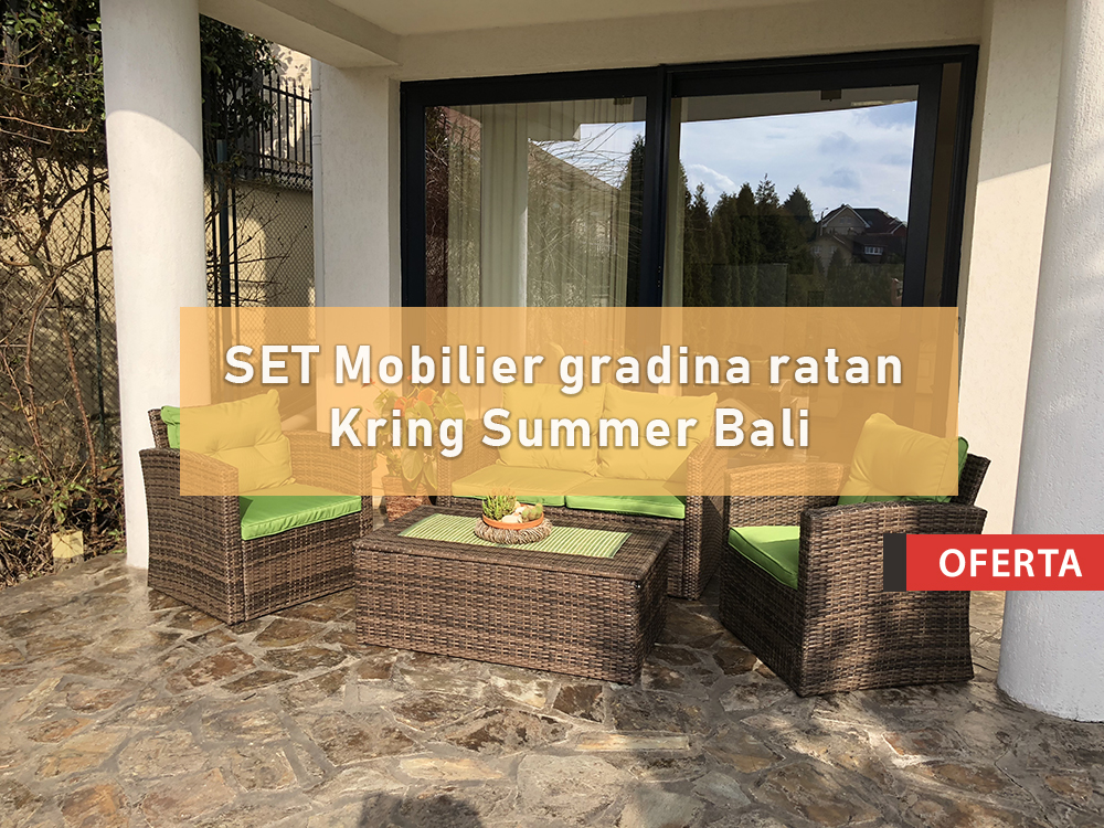 Oferta Set Mobilier Gradina Ratan Kring Summer Bali Oferteperfecte Com